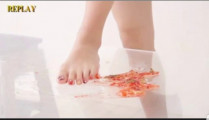 Japanese barefoot food crush