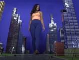 Giantess sahrye stomps city