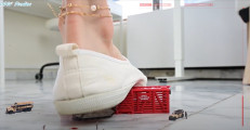 Annette`s slow motion sneaker squeeze