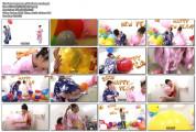Japanese girl balloons crush