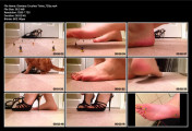 Tiny toy men crushed by barefoot giantess (720p)
