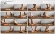 Crush food in sandals