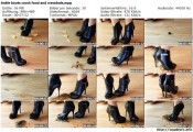 Ankle boots crush food and crawdads